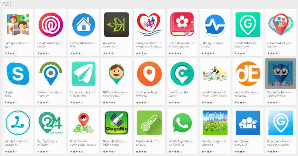 App per la geolocalizzazione