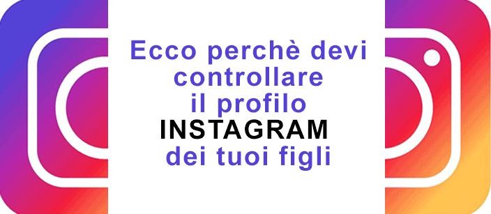 controllare il profilo instagram dei propri figli